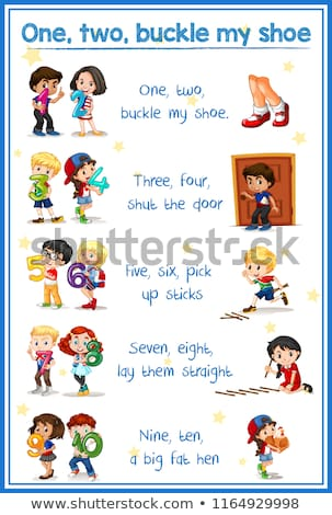 One two buckle my shoes song Stock photo © bluering