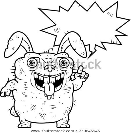 уродливые Bunny говорить Cartoon иллюстрация кролик Сток-фото © cthoman