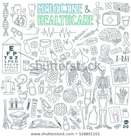Gyógyszertár orvosi szett injekciós tű éles tű Stock fotó © robuart
