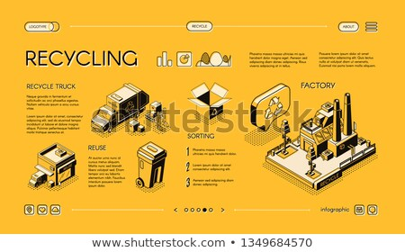 Trucks Transporting Waste Set Vector Illustration Stock photo © robuart