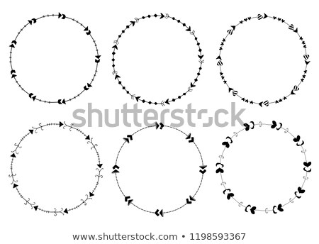 Ayarlamak vektör kareler oklar sevimli modern tarzda Stok fotoğraf © Pravokrugulnik