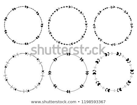 Set Of Round Vector Frames Made Of Arrows In Cute Modern Style Stockfoto © Pravokrugulnik