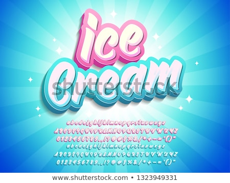 ice cream poster with text vector illustration stock photo © robuart