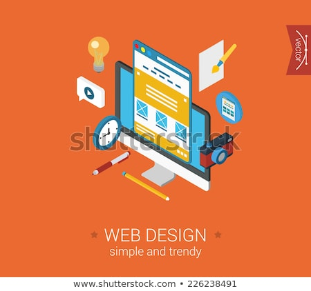 deadline concept   modern isometric vector web banner stock photo © decorwithme