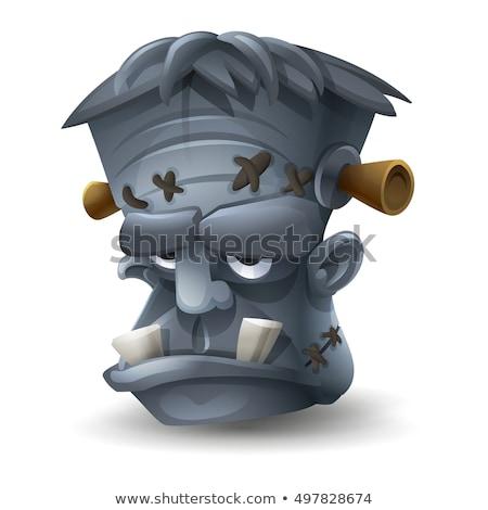 peur · cartoon · ox · illustration · regarder - photo stock © cthoman