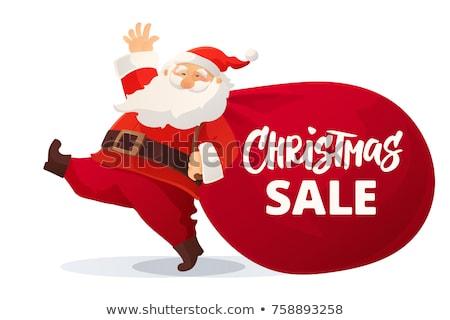 Navidad venta texto promoción sombrero moda Foto stock © ikopylov