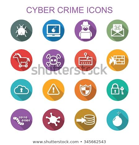 Cyber Crime with Set Logos Hacker Spy Stock photo © -TAlex-