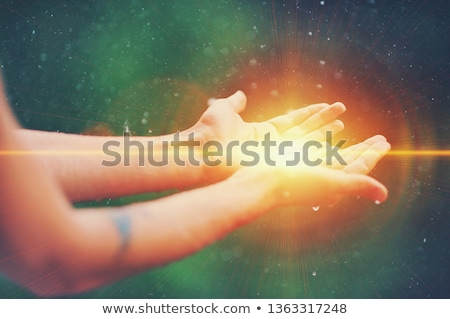 Therapist Giving Reiki Healing Treatment To Woman Stock photo © AndreyPopov