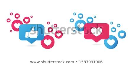 Amor clique dedo alma coração mão Foto stock © Olena