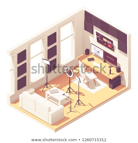 Vector isometric video blogger studio equipment Stock photo © tele52