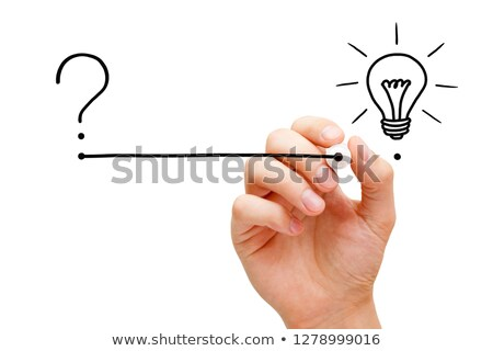 Stock photo: From Question To Implementation Of Great Idea Concept