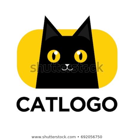 黒猫 ベクトル ロゴ アイコン シンボル 顔 ストックフォト © blaskorizov