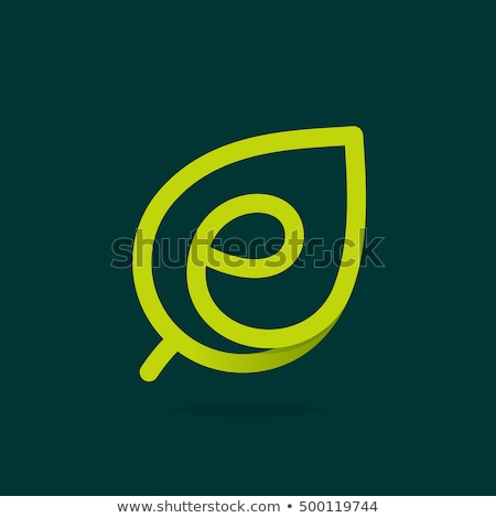 eco leaves e letter logotype green vector logo stock photo © blaskorizov