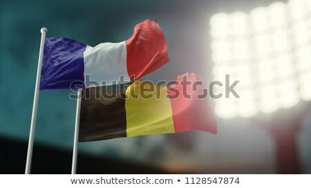 Dois bandeiras França Bélgica isolado Foto stock © MikhailMishchenko