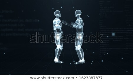 Two human body in blue power rays Stock photo © oneo