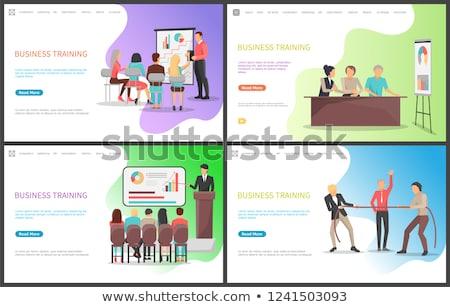 Negócio treinamento seminário trabalhadores competência vetor Foto stock © robuart