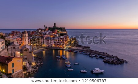 Clock tower in Vernazza, Cinque Terre, Liguria, Italy Stock photo © boggy
