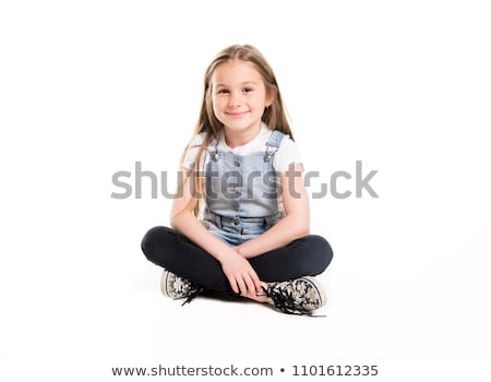 Portre sevimli yıl eski kız yalıtılmış Stok fotoğraf © Lopolo