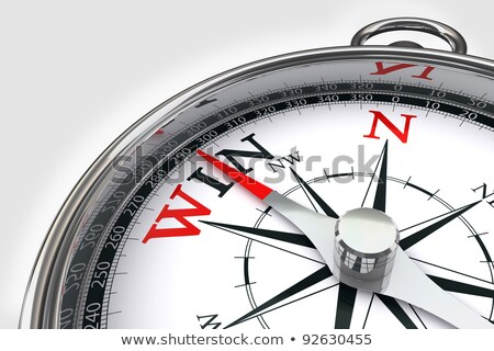 Iránytű fehér siker mágneses tű mutat Stock fotó © make
