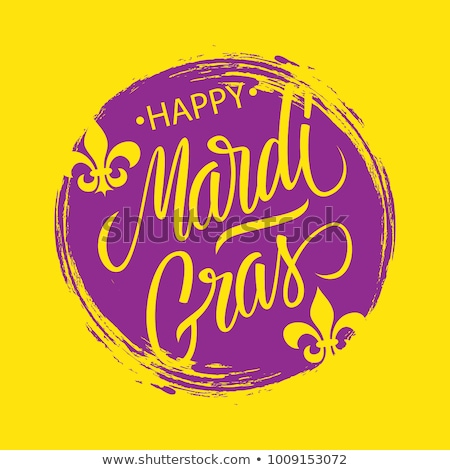 Mardi Gras handwriting text for greeting card festival fat tuesday Stock photo © orensila