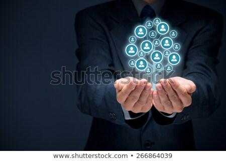 работу агентство занятость человека ресурсы рук Сток-фото © -TAlex-