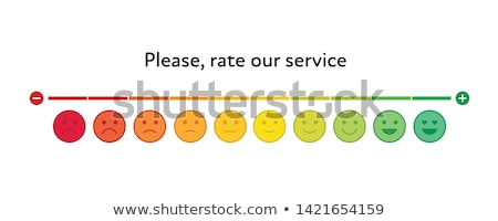 Rückkopplung Emoticon Maßstab line Design positive Stock foto © kali