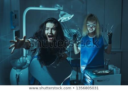 horror · jelenet · fogorvosi · rendelő · őrült · gonosz · fogak - stock fotó © artfotodima