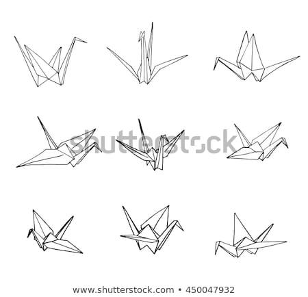 Rajz origami állvány izolált fehér kéz Stock fotó © Arkadivna