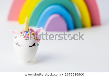 Tojások forma húsvét kézzel készített csináld magad lépés Stock fotó © furmanphoto