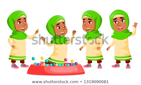 menina · jardim · de · infância · criança · conjunto · vetor · pré-escolar - foto stock © pikepicture