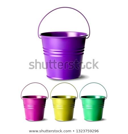 Fém vödör vektor különböző színek klasszikus Stock fotó © pikepicture
