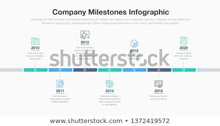 Vector timeline template history of your company Stock photo © blumer1979