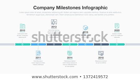 kör · vektor · idővonal · sablon · cég · történelem - stock fotó © blumer1979