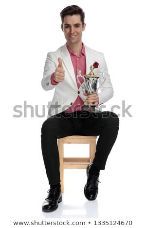 Inteligentes casual hombre trofeo Foto stock © feedough