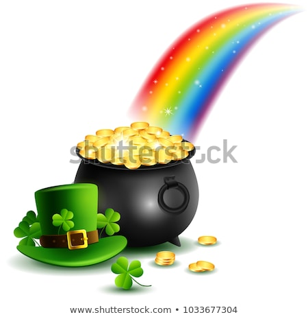 pot of gold rainbow stock photo © lightsource