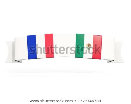 баннер два квадратный флагами Франция Мексика Сток-фото © MikhailMishchenko