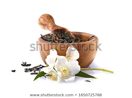 Thé vert fleur texture fond vert Photo stock © hitdelight