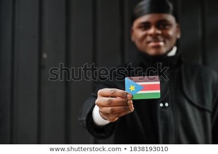 Köztársaság dél Szudán zászló száraz Föld Stock fotó © grafvision