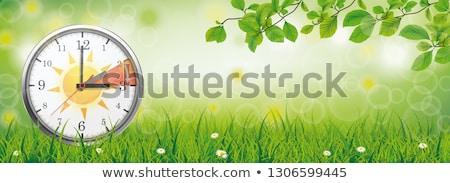 クロック 変更 標準 時間 春 緑 ストックフォト © limbi007