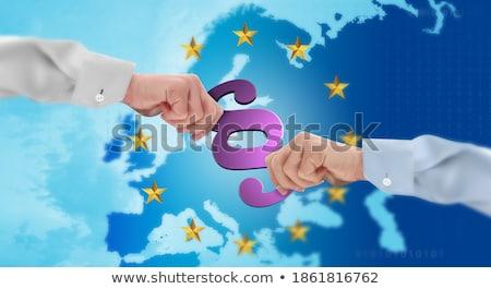 Europejski Unii prawa marmuru ustęp banderą Zdjęcia stock © limbi007