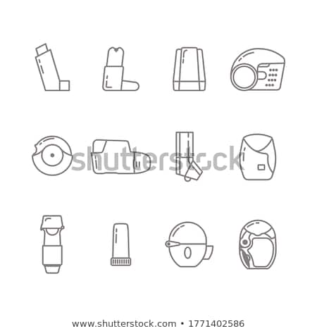 vector set of inhalation medicines Stock photo © olllikeballoon