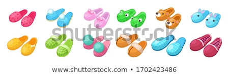 vector set of slippers stock photo © olllikeballoon
