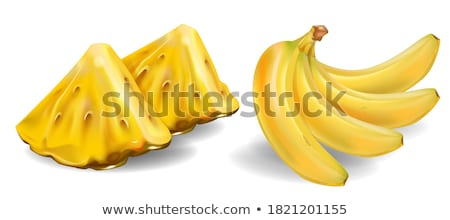 Banana Exotic Juicy Ripe Yellow Fruit Berry Icon Stock photo © robuart