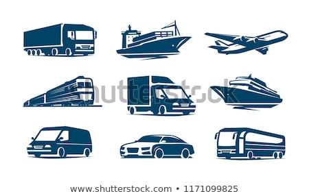 Vrachtwagen minibus auto vervoer olie metaal Stockfoto © creatOR76