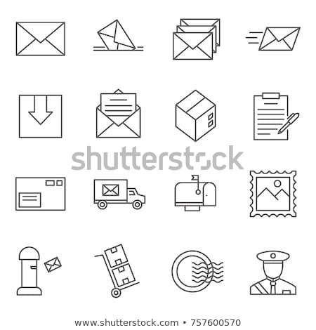 vektor · stílus · illusztráció · postaláda · ikon · háló - stock fotó © jossdiim
