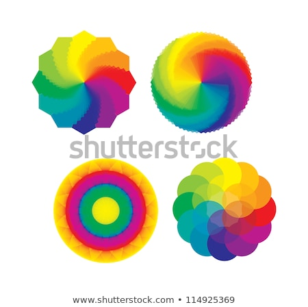 Prism And Spectrum Rainbow Collection Set Vector Stock photo © pikepicture