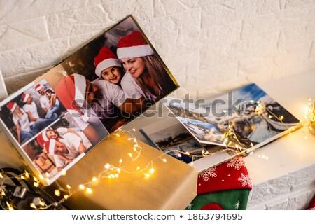 Ognisko półka książek Fotografia wnętrza wektora Zdjęcia stock © robuart