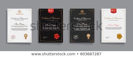professionele · certificaat · waardering · sjabloon · achtergrond · goud - stockfoto © sarts