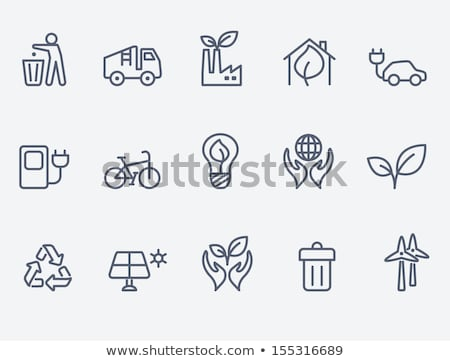 Trash Recycle Planet Earth Vector Thin Line Icon Stock photo © pikepicture