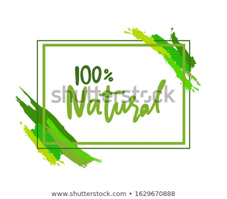 100 naturelles logo rectangulaire cadre Photo stock © robuart